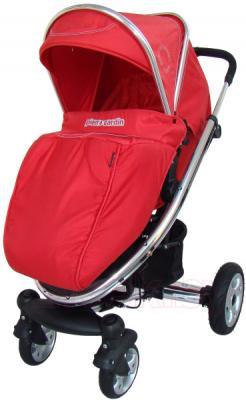 Детская универсальная коляска Pierre Cardin PS870 3 в 1 (красный) - с чехлом на ножки