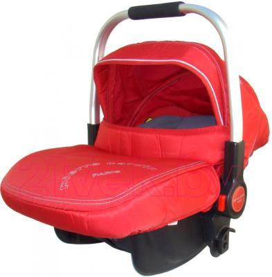 Детская универсальная коляска Pierre Cardin PS870 3 в 1 (красный) - автокресло
