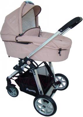 Детская универсальная коляска Pierre Cardin PS880 3 в 1 (коричневый) - люлька