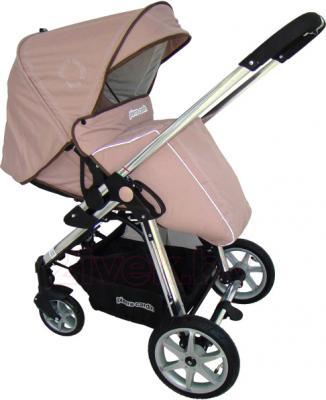 Детская универсальная коляска Pierre Cardin PS880 3 в 1 (коричневый) - прогулочный блок