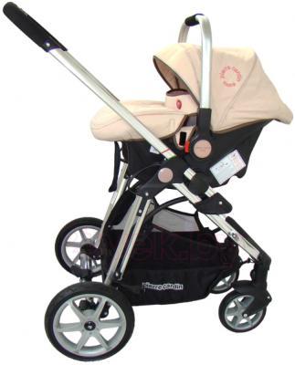 Детская универсальная коляска Pierre Cardin PS880 3 в 1 (бежевый) - с автокреслом