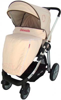 Детская универсальная коляска Pierre Cardin PS880 3 в 1 (бежевый) - с чехлом на ножки