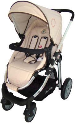 Детская универсальная коляска Pierre Cardin PS880 3 в 1 (бежевый) - прогулочный блок
