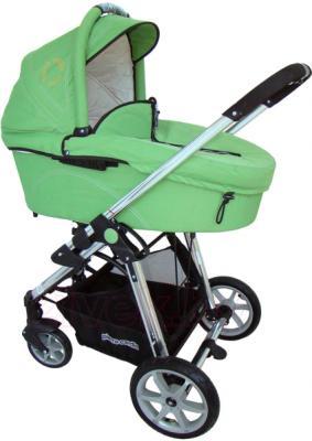 Детская универсальная коляска Pierre Cardin PS880 3 в 1 (зеленый) - люлька