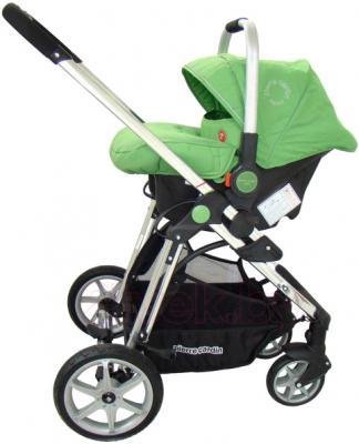 Детская универсальная коляска Pierre Cardin PS880 3 в 1 (зеленый) - с автокреслом