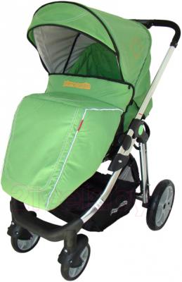 Детская универсальная коляска Pierre Cardin PS880 3 в 1 (зеленый) - с чехлом на ножки