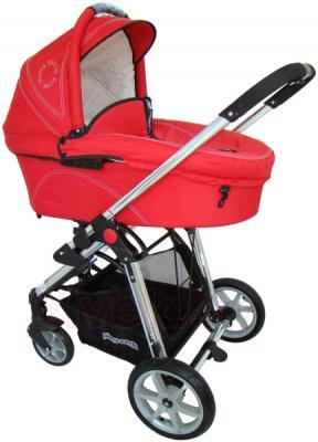 Детская универсальная коляска Pierre Cardin PS880 3 в 1 (красный) - люлька