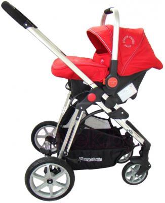 Детская универсальная коляска Pierre Cardin PS880 3 в 1 (красный) - с автокреслом