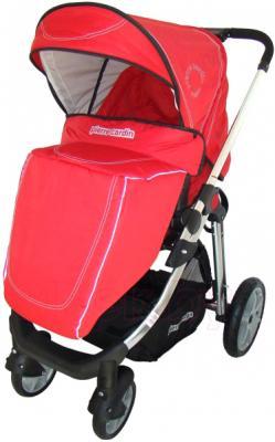Детская универсальная коляска Pierre Cardin PS880 3 в 1 (красный) - с чехлом на ножки