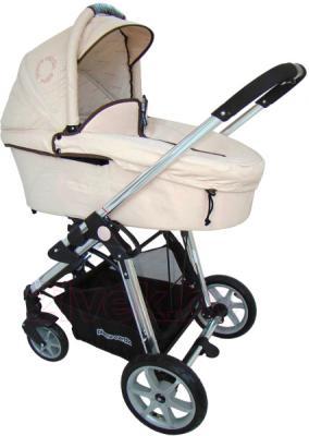 Детская универсальная коляска Pierre Cardin PS880 3 в 1 (серый) - люлька