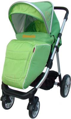 Детская универсальная коляска Pierre Cardin PS687 2 в 1 (зеленый) - с чехлом на ножки