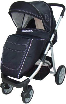 Детская универсальная коляска Pierre Cardin PS687 2 в 1 (черно-бежевый) - с чехлом на ножки