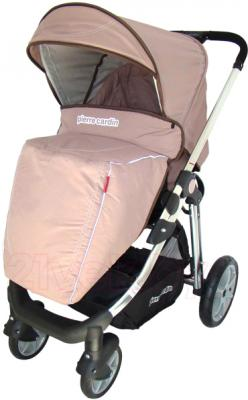 Детская универсальная коляска Pierre Cardin PS880 2 в 1 (коричневый) - с чехлом на ножки