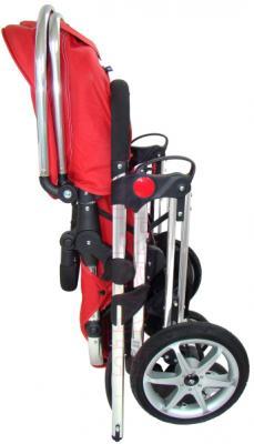 Детская универсальная коляска Pierre Cardin PS880 2 в 1 (красный) - в сложенном виде