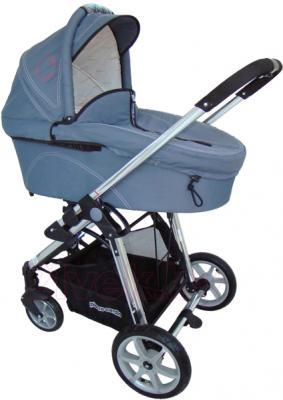 Детская универсальная коляска Pierre Cardin PS880 2 в 1 (серый) - люлька