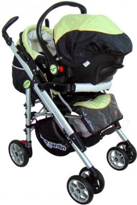 Детская универсальная коляска Pierre Cardin PS693B 2 в 1 (зеленый) - с автокреслом