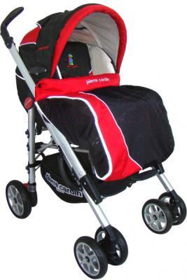 Детская универсальная коляска Pierre Cardin PS693B 2 в 1 (красный) - с чехлом для ног
