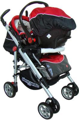 Детская универсальная коляска Pierre Cardin PS693B 2 в 1 (красный) - с автокреслом