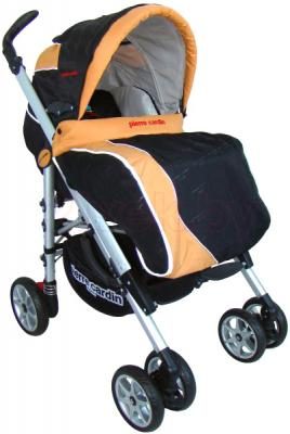 Детская универсальная коляска Pierre Cardin PS693B 2 в 1 (оранжевый) - с чехлом для ног