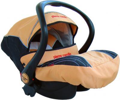 Детская универсальная коляска Pierre Cardin PS693B 2 в 1 (оранжевый) - автокреслом с чехлом для ног