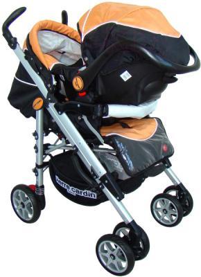 Детская универсальная коляска Pierre Cardin PS693B 2 в 1 (оранжевый) - с автокреслом