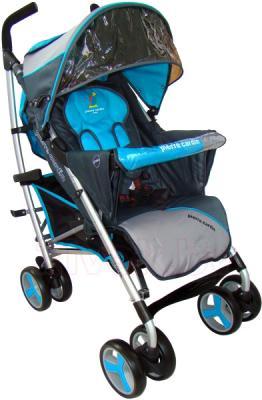 Детская прогулочная коляска Pierre Cardin PS518 (синий) - общий вид