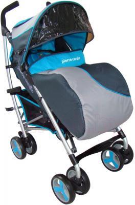 Детская прогулочная коляска Pierre Cardin PS518 (синий) - с чехлом на ножки