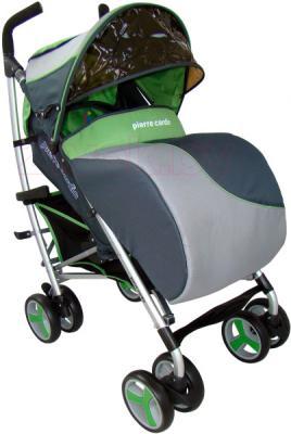 Детская прогулочная коляска Pierre Cardin PS518 (зеленый) - с чехлом на ножки
