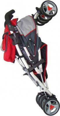 Детская прогулочная коляска Pierre Cardin PS518 (красный) - в сложенном виде