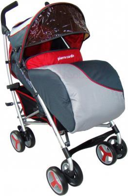 Детская прогулочная коляска Pierre Cardin PS518 (красный) - с чехлом на ножки