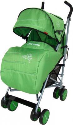 Детская прогулочная коляска Pierre Cardin PS568 (зеленый) - с чехлом для ног