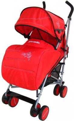 Детская прогулочная коляска Pierre Cardin PS568 (красный) - с чехлом для ног