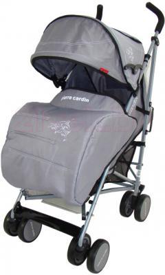 Детская прогулочная коляска Pierre Cardin PS568 (серый) - с чехлом для ног