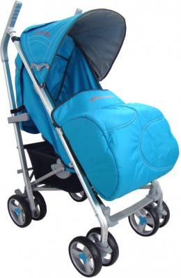 Детская прогулочная коляска Pierre Cardin PS586AL (синий) - с чехлом для ног