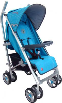 Детская прогулочная коляска Pierre Cardin PS586AL (синий) - общий вид