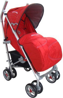 Детская прогулочная коляска Pierre Cardin PS586AL (красный) - с чехлом для ног