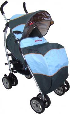 Детская прогулочная коляска Pierre Cardin PS627B (синий) - с чехлом для ног