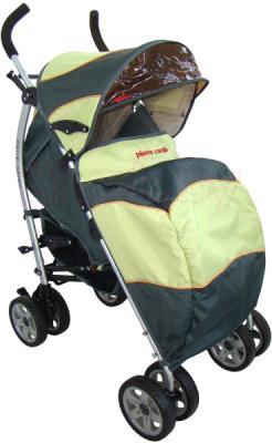 Детская прогулочная коляска Pierre Cardin PS627B (зеленый) - с чехлом для ног