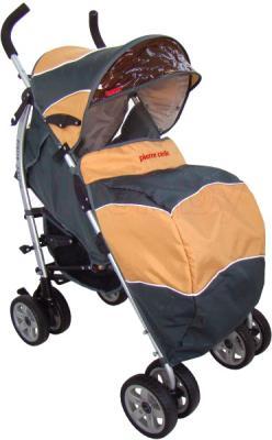 Детская прогулочная коляска Pierre Cardin PS627B (оранжевый) - с чехлом для ног