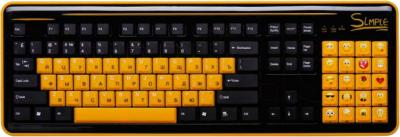 Клавиатура CBR Simple S8 (черный) - общий вид