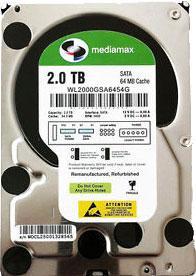 Жесткий диск Mediamax WL2000GSA - общий вид