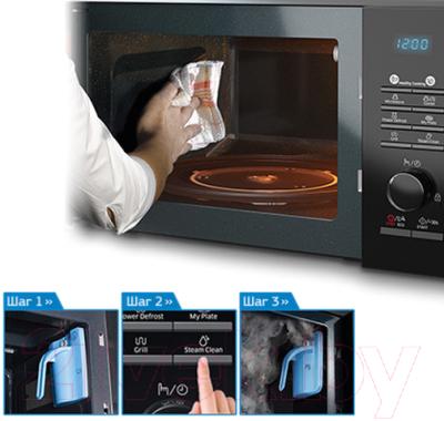 Микроволновая печь Samsung MS23H3115FK/BW - презентационное фото 3