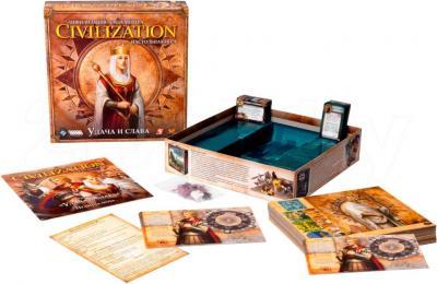 Настольная игра Мир Хобби Цивилизация Сида Мейера. Удача и Слава - комплектация
