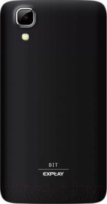 Смартфон Explay Bit (черный) - вид сзади