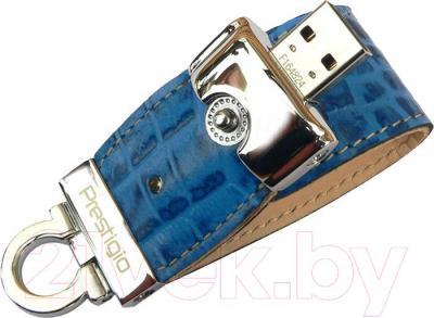Usb flash накопитель Prestigio Leather Flash Drive Blue 4 Gb (PLDF4096CRBLUET3) - общий вид