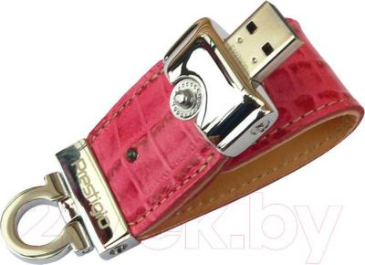 Usb flash накопитель Prestigio Leather Flash Drive Pink 4 Gb (PLDF4096CRPINKT3) - общий вид