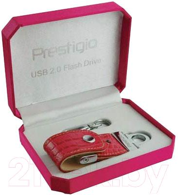 Usb flash накопитель Prestigio Leather Flash Drive Red 4 Gb (PLDF4096CRRED) - упаковка