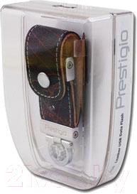 Usb flash накопитель Prestigio Leather Flash Drive Brown 4 Gb (PLDF4096MAPBROWNT3) - упаковка