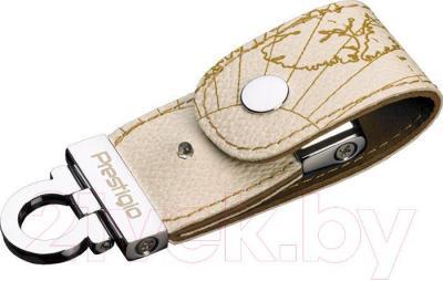 Usb flash накопитель Prestigio Leather Flash Drive White 8 Gb (PLDF08MPWHT3A) - общий вид