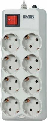 Сетевой фильтр Sven Surge Protector Optima Pro 3.1 (бежево-серый) - общий вид